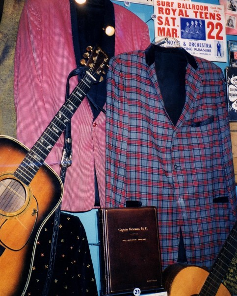 Tom Austin's, Royal Teens memorabilia displayed at the Rock and Roll hall of Fame, EARLY YEARS OF ROCK AND ROLL EXHIBIT